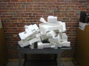 Figure 4: Roughly 60 Gallons of Styrofoam recycled at GreenCitizen