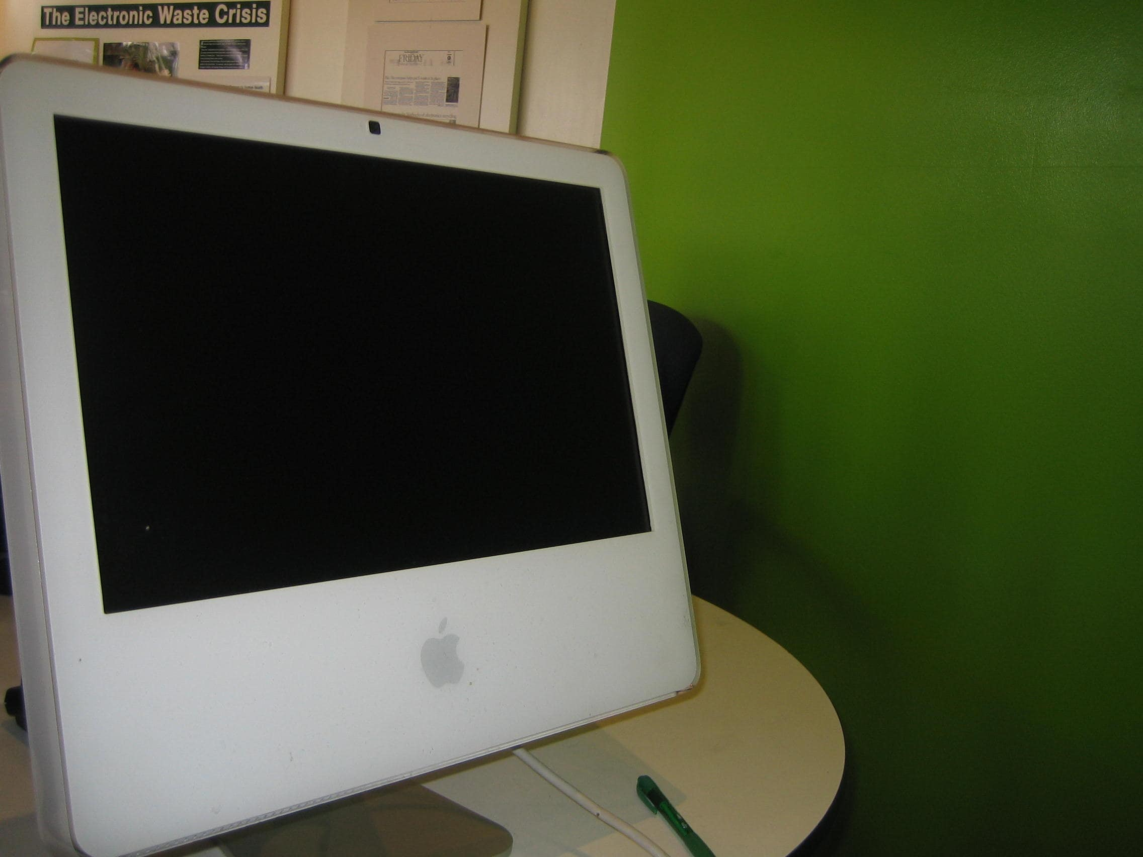 recycle center white mac computer