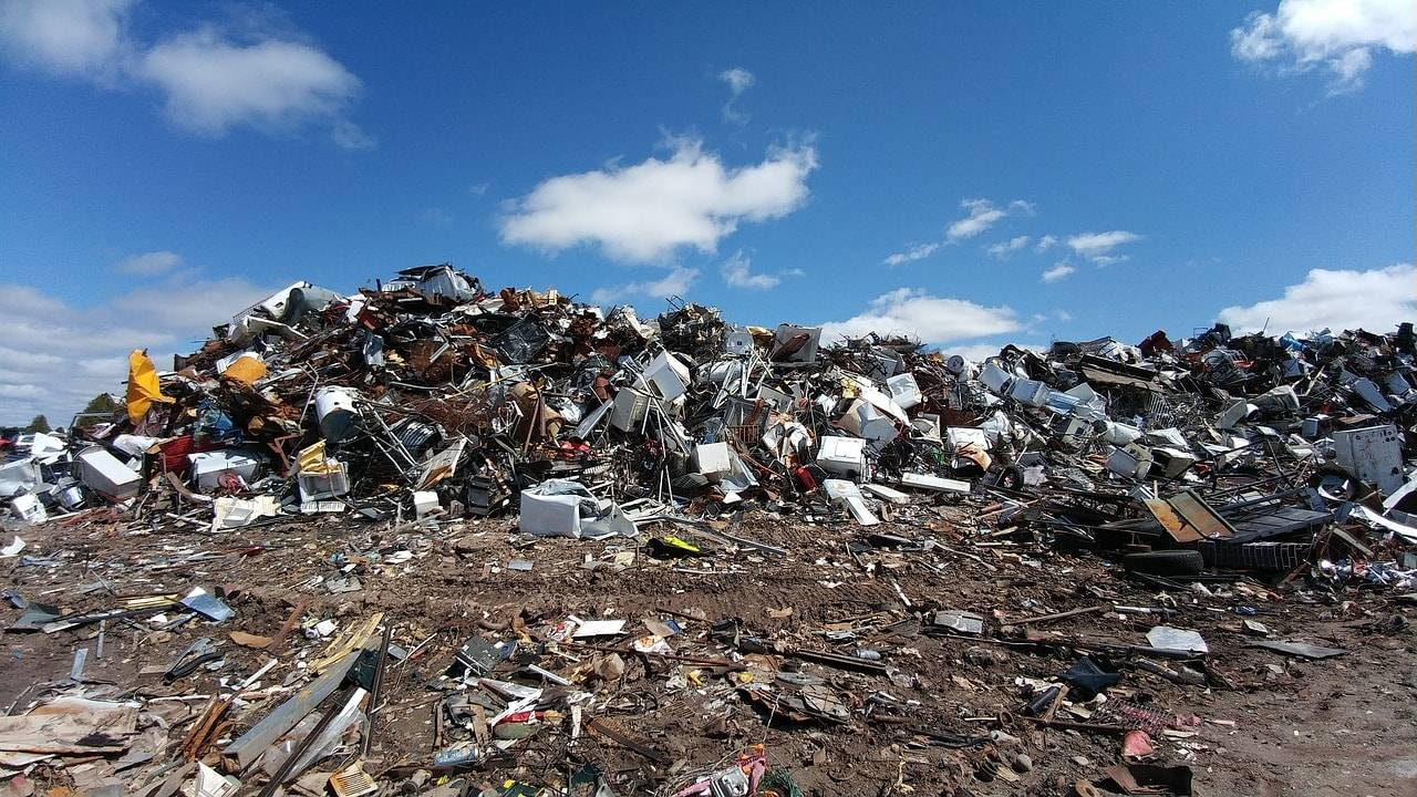 Landfill of electronics