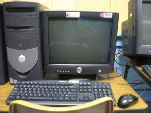 old desktop computer for recycling