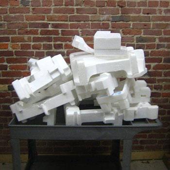 blocks of styrofoam recycling at GreenCitizen