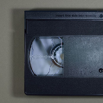 VHS tape close up