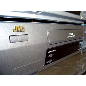 A vhs tape player from JVC