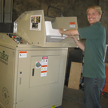 recycling styrofoam in san francisco using a condensing machine