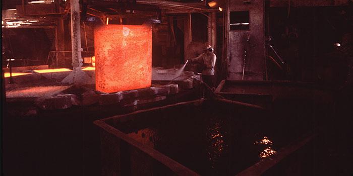 using electrolysis to remove impurities in metal