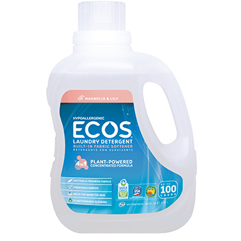 ECOS laundry detergent in a bottle