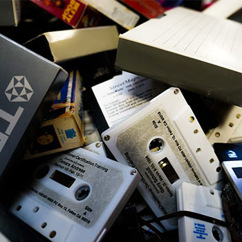 recycling cassette tapes