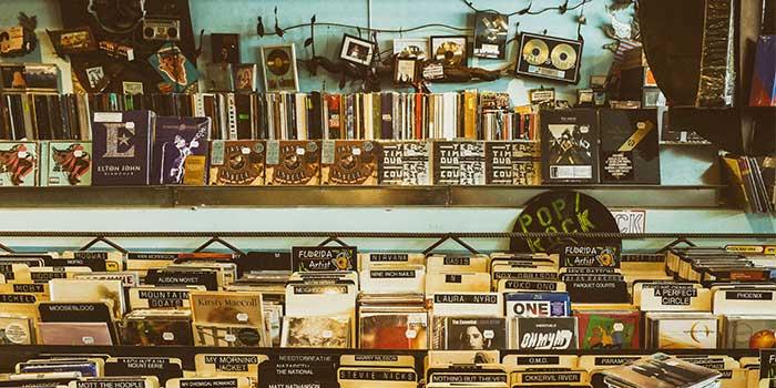 vhs tapes at a vintage record shop-1