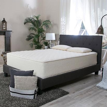 A bedroom with a Latex for Less Latex Mattress