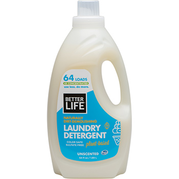 Better life laundry detergent unscented in a bottle