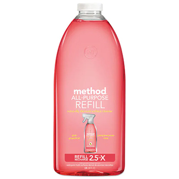 Method all purpose cleaner pink grapefruit in a bottle