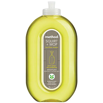 Method squirt and mop wood floor cleaner lemon ginger in a bottle