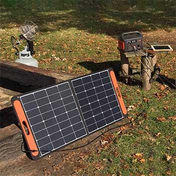 Solarsaga 100w solar panel kit with a jackery explorer 500