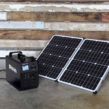 Solar panel with a patriot power generator