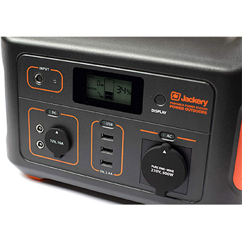 Digital display of the jackery explorer showing you the charge