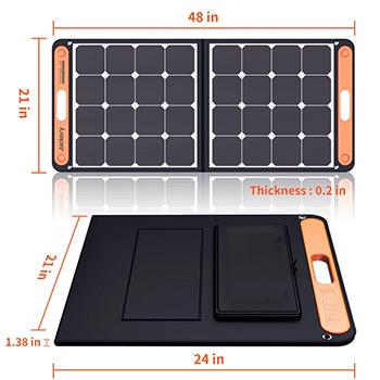 Dimensions of the Jackery SolarSaga 100W