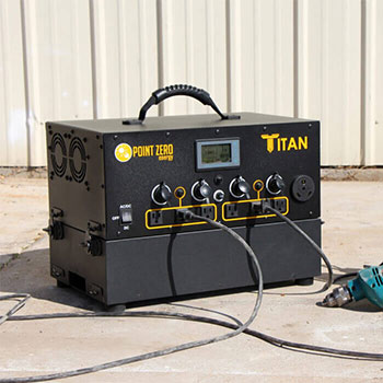 Charging power tools using the titan solar generator