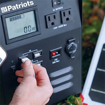 Patriot power generator 1800 USB outputs