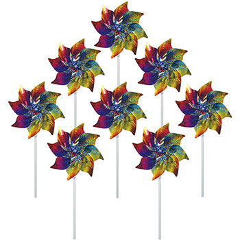 In the Breeze Best Selling Rainbow Whirl Pinwheel 8 pcs