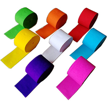 Party Streamer Paper Decorations 8 rolls