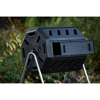 FCMP Outdoor Tumbling Composter black