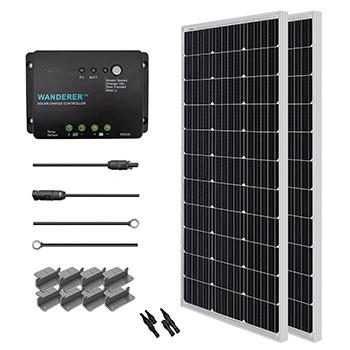 Renogy 200W 12V Solar Starter Kit complete set