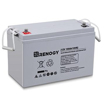 A Renogy Deep Cycle AGM Battery