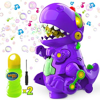 Single WisToyz Bubble Machine Dinosaur Bubble Blower
