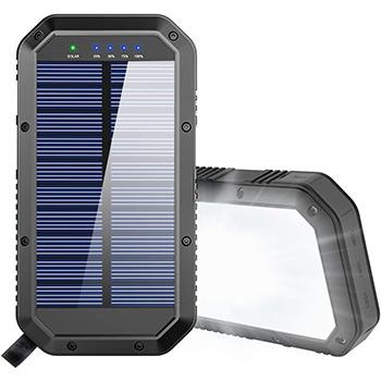 GoerTek 25000mAh Battery Solar Power Bank black
