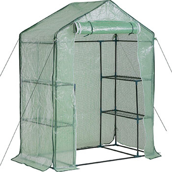 A single FDW Greenhouse for Outdoors Plastic Mini Greenhouse Kit