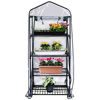 A single Gardman 4-Tier Mini Greenhouse
