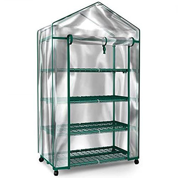 A single Home-Complete Mini Greenhouse-4-Tier