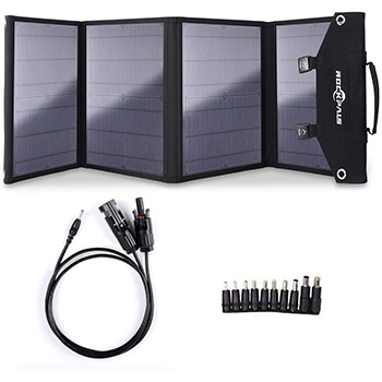 A Rockpals 100W Foldable Solar Panel