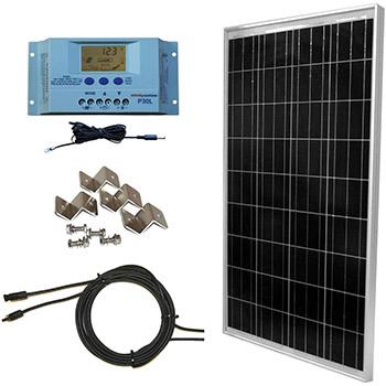 A WindyNation 100 Watt Solar Panel Kit