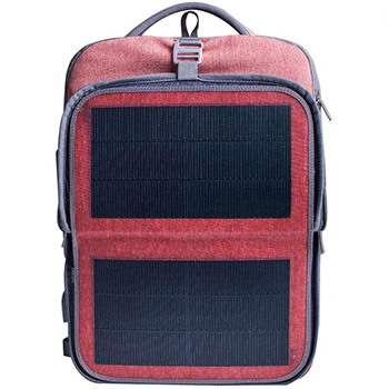 HANERGY Solar Laptop Backpack red and black