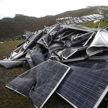 panels dumped in a landfill