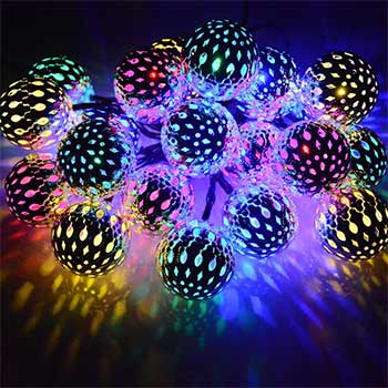 Dephen Solar String Lights Moroccan Ball one set
