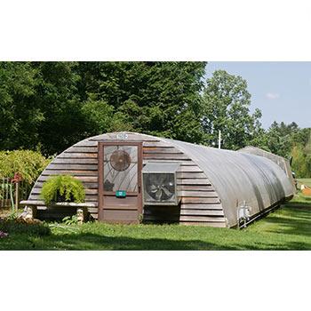 Domed outdoor structure for vegetables