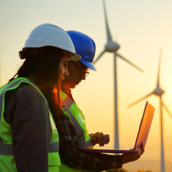 Wind farm site managers who are female