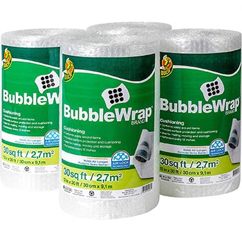 Duck Brand Bubble Wrap Roll four packs
