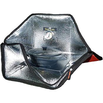 A Sunflair Mini Portable Solar Oven