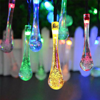 Many waterdrop lights
