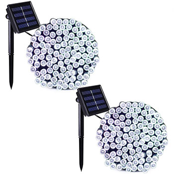 Binval Solar Fairy Christmas String Lights two packs