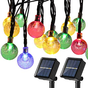 Joomer Globe Solar String Lights two packs