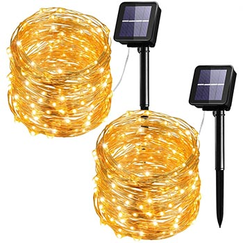 Mpow Solar String Lights two packs