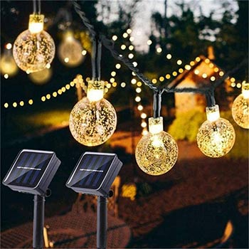 Two packs of SOCO Solar Globe String Lights
