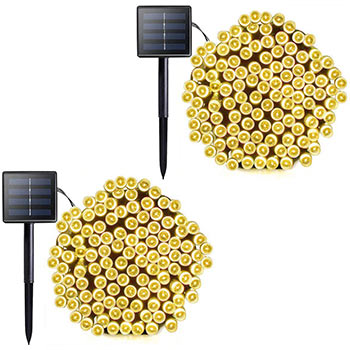 VMANOO M5 Solar String Lights two packs