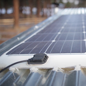 Charging with solar panels