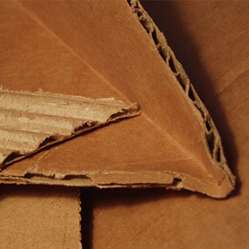 Cardboard that is corrugated