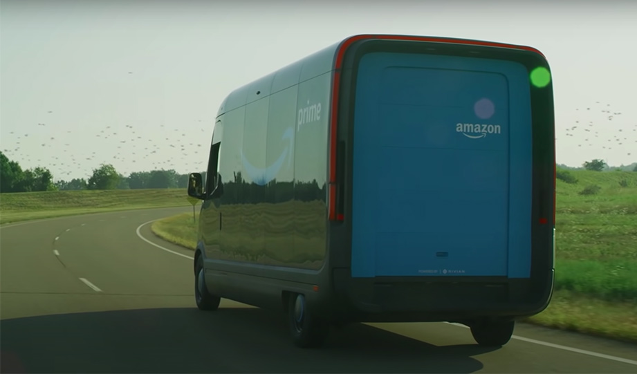Featured image for Amazon Reveals Rivian Electric Delivery Van It Will Start Using In 2021 article